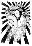 Czarny i biały diwa ilustracja wektor