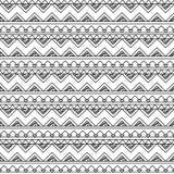 Czarny I Biały Doodle stylu Tileable Bezszwowy Plemienny wzór ilustracja wektor