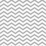 Czarny i biały doted szewronu ornamentu geometryczny abstrakcjonistyczny bezszwowy wzór, wektor Zdjęcia Royalty Free
