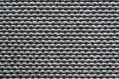 Czarny i biały dywanowa tekstura Obrazy Stock