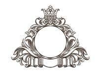 Czarny i biały emblemat Zdjęcia Royalty Free