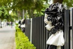 Czarny i biały faborek Fotografia Stock