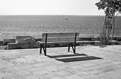Czarny i biały fotografia Piraiki Piraeus Grecja Zdjęcia Stock