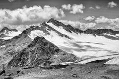 Czarny i biały góra Obraz Royalty Free