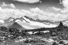 Czarny i biały góra Obrazy Stock