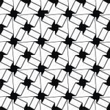 Czarny i biały geometryczny wzór Obraz Royalty Free