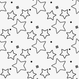 Czarny i biały gwiazdowi bezszwowi wzory, Wektorowa ilustracja ilustracji