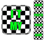 Czarny i biały i zielone ikony Obrazy Royalty Free