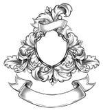 Czarny i biały insygnia Zdjęcie Royalty Free