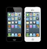 Czarny i biały iPhones 5 Obraz Stock