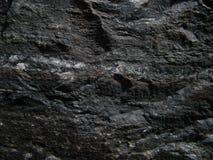 Czarny i biały kamienna tekstura Fotografia Royalty Free