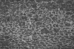 Czarny i biały kamienny tekstura filmu spojrzenie Fotografia Royalty Free