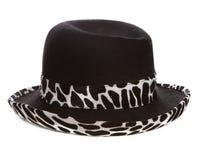 Czarny i biały kapelusz fotografia royalty free