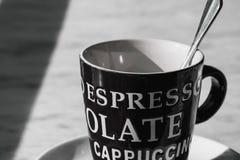 Czarny i biały kawowy czas Obraz Stock