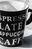 Czarny i biały kawowy czas Obrazy Royalty Free