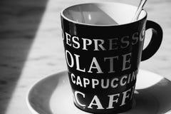 Czarny i biały kawowy czas Zdjęcia Stock