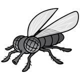 Czarny I Biały komarnicy maskotka Zdjęcia Stock