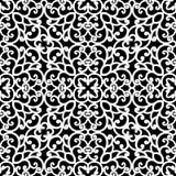Czarny i biały koronka wzór Obraz Stock