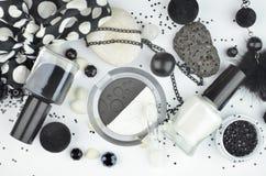 Czarny i biały kosmetyki Obraz Royalty Free