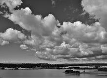 Czarny i biały krajobraz Zdjęcia Royalty Free