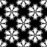 Czarny i biały kwiecisty ornament bezszwowy wzoru Zdjęcia Stock