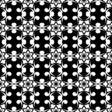 Czarny i biały kwiecisty ornament bezszwowy wzoru Zdjęcia Royalty Free