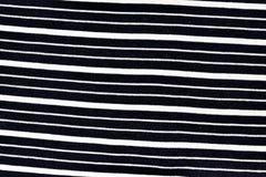 Czarny I Biały linii tkaniny wzór Zdjęcie Stock