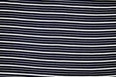 Czarny I Biały linii tkaniny wzór Zdjęcie Royalty Free