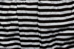 Czarny I Biały linii tkaniny wzór Fotografia Stock