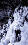 Czarny i biały lodowi spadki Obraz Royalty Free