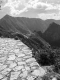 Czarny I Biały Mach Picchu Obraz Royalty Free