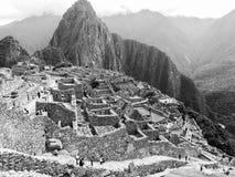 Czarny I Biały Mach Picchu Zdjęcie Royalty Free