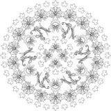 Czarny i biały mandala Obraz Royalty Free