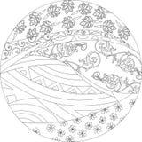 Czarny i biały mandala Zdjęcia Stock