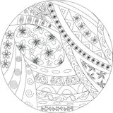 Czarny i biały mandala Zdjęcie Royalty Free