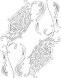 Czarny i biały mandala Zdjęcia Royalty Free