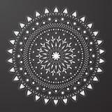 Czarny i biały mandala wzoru wektor Obrazy Stock