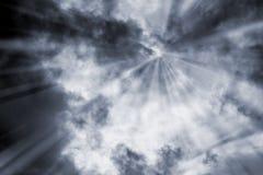 Czarny i biały niebo i burz chmury Fotografia Royalty Free