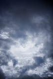 Czarny i biały niebo i burz chmury Zdjęcie Royalty Free