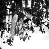 Czarny i biały odbicie para Zdjęcie Royalty Free
