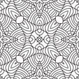 Czarny i biały orientalny wzór Zdjęcie Stock