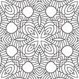 Czarny i biały orientalny wzór Obrazy Stock