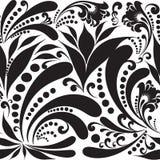 Czarny i biały Paisley wektorowy bezszwowy wzór Obraz Stock
