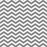 Czarny i biały pasiastego szewronu ornamentu geometryczny abstrakcjonistyczny bezszwowy wzór, wektor Zdjęcie Stock