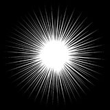Czarny i biały promienia wektoru ilustracja Fotografia Royalty Free