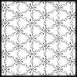 Czarny i biały prosty wzór Obraz Stock