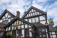Czarny I Biały pub w targowym miasteczku Sandbach Anglia Obrazy Royalty Free
