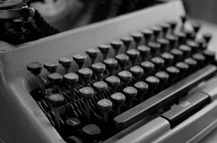 Czarny i biały retro maszyna do pisania list Zdjęcie Royalty Free