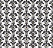 Czarny i biały Retro wzór. Wektorowy formate Fotografia Royalty Free