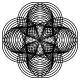 Czarny i biały round giloszuje elenent Raster klamerki sztuka Fotografia Stock